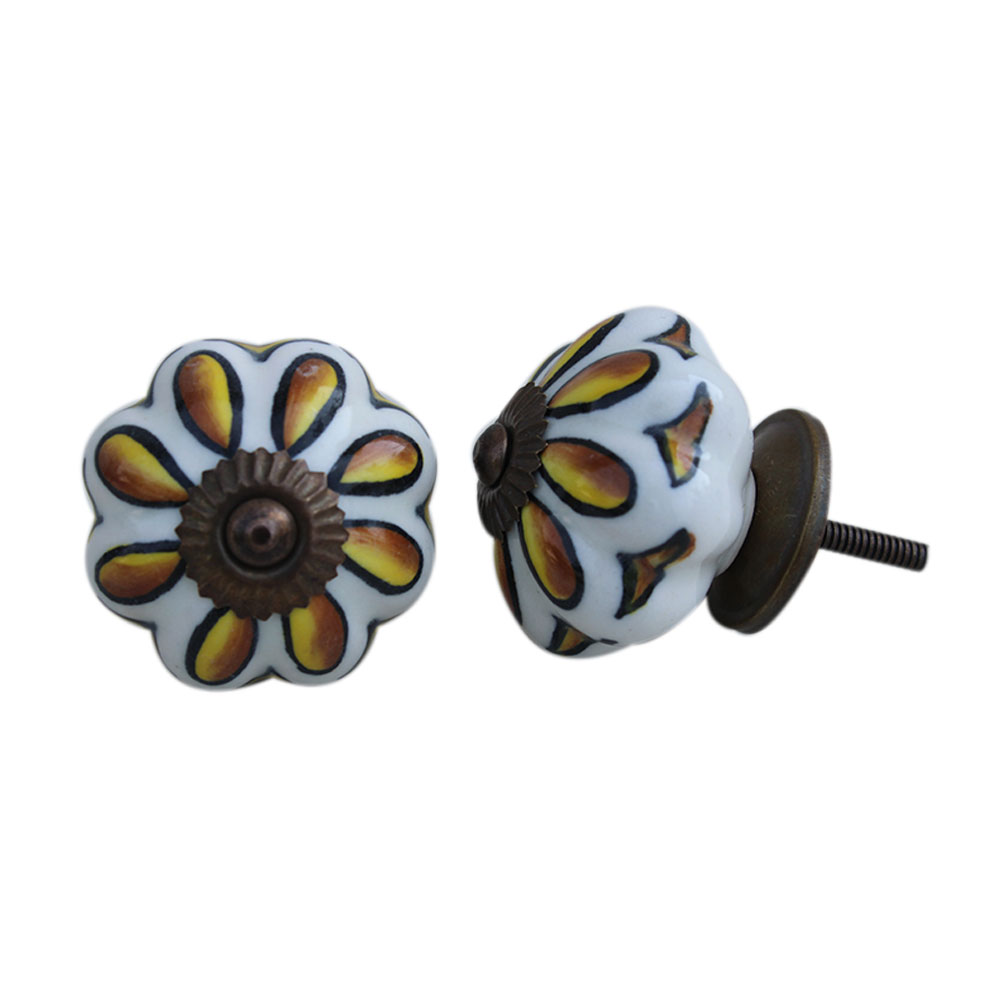 Sunflower Ceramic Knob