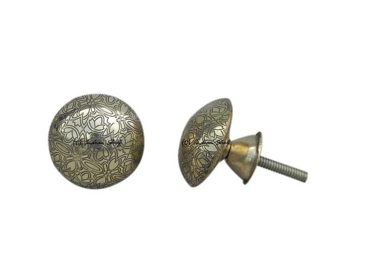Brass Floral Dresser Knobs