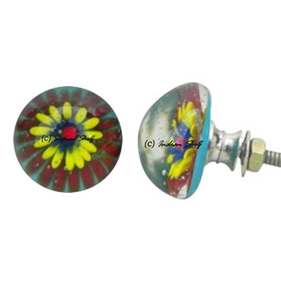 Glass Flower Knob