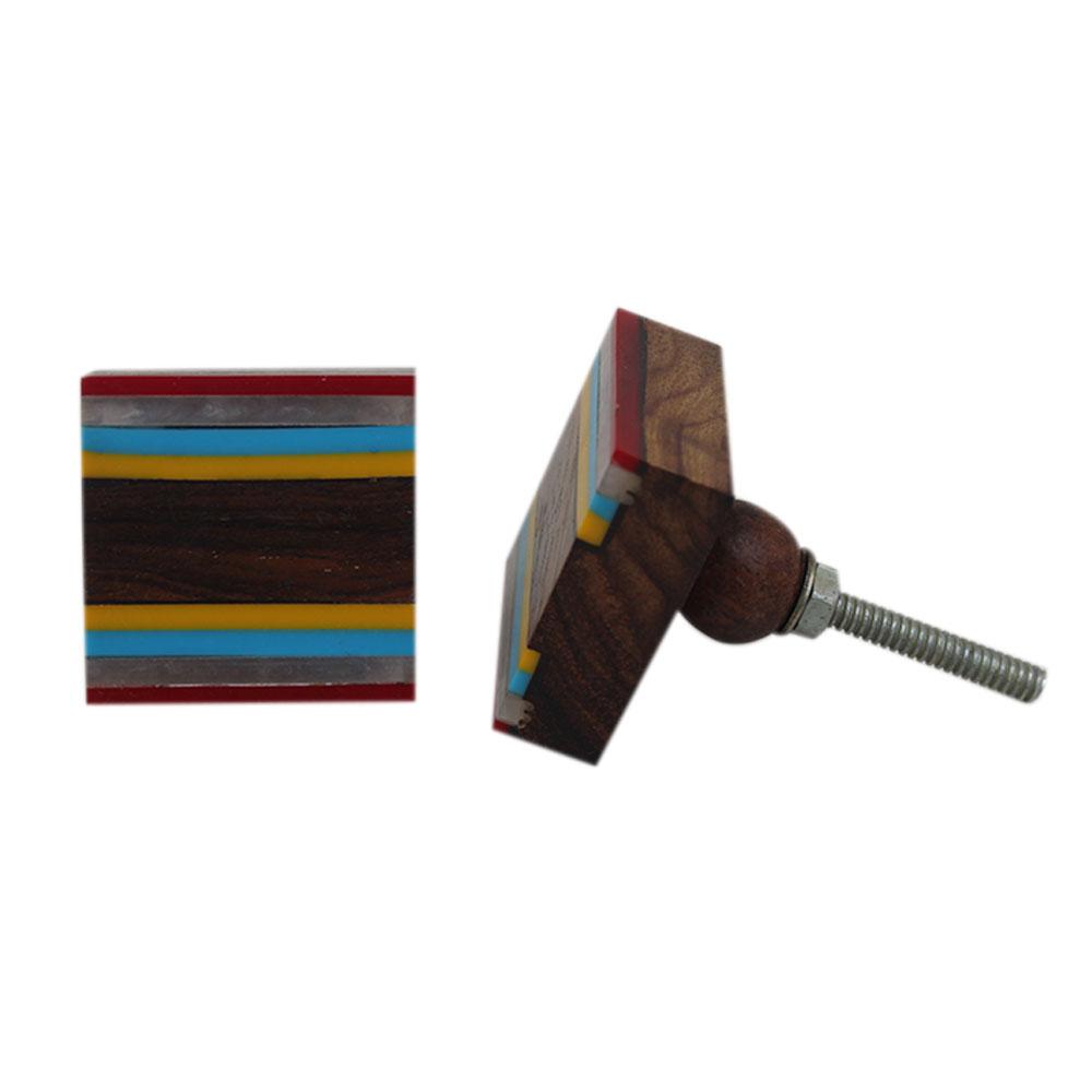 Colored Acrylic & Wood Medium Knobs