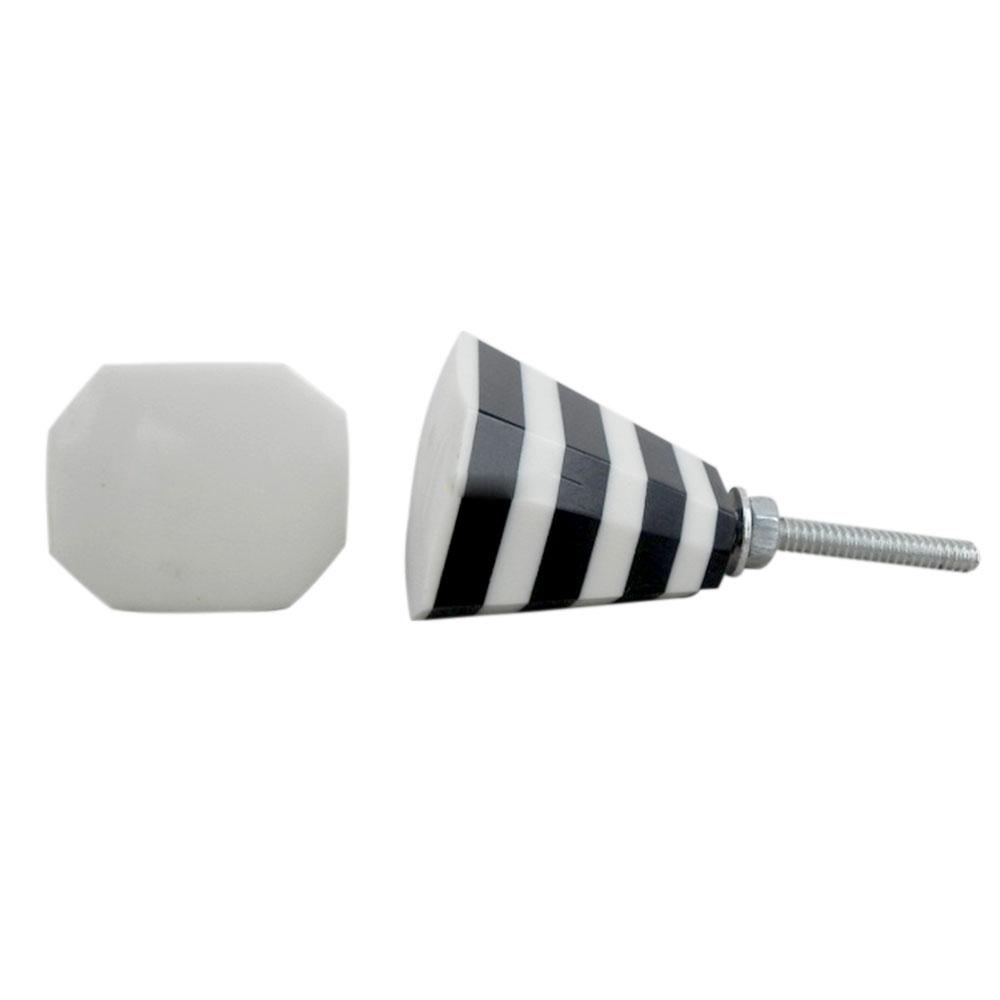 White & Black Resin Knob