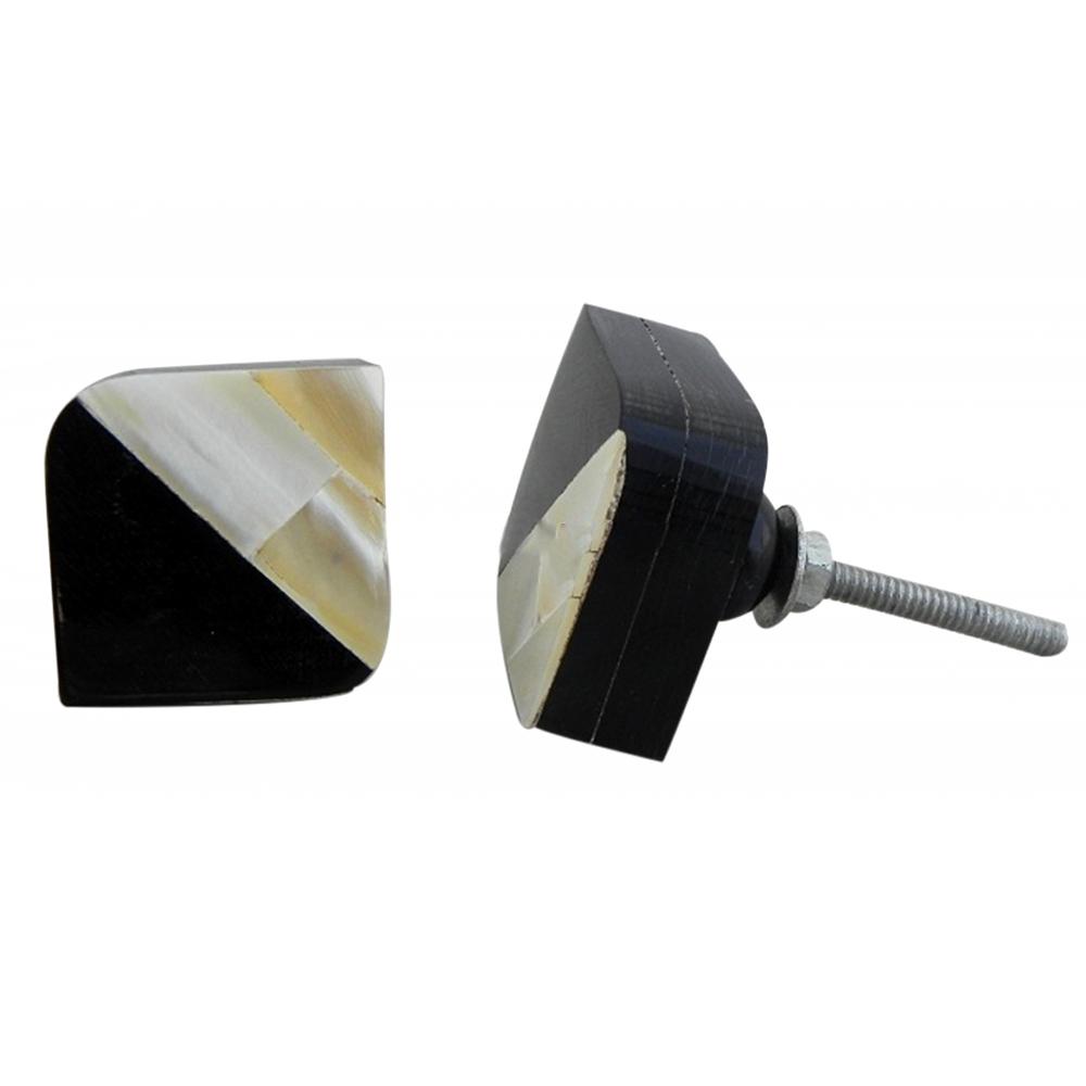 Ivory Horn & Shell Knob