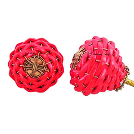 Red Rexine Wire Knobs