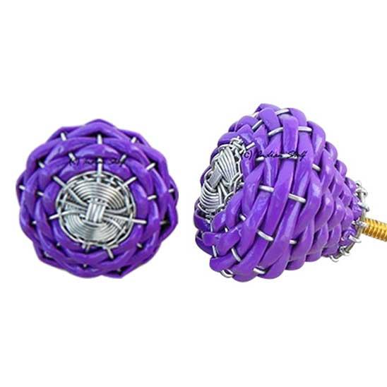 Purple Rexine Wire Knobs
