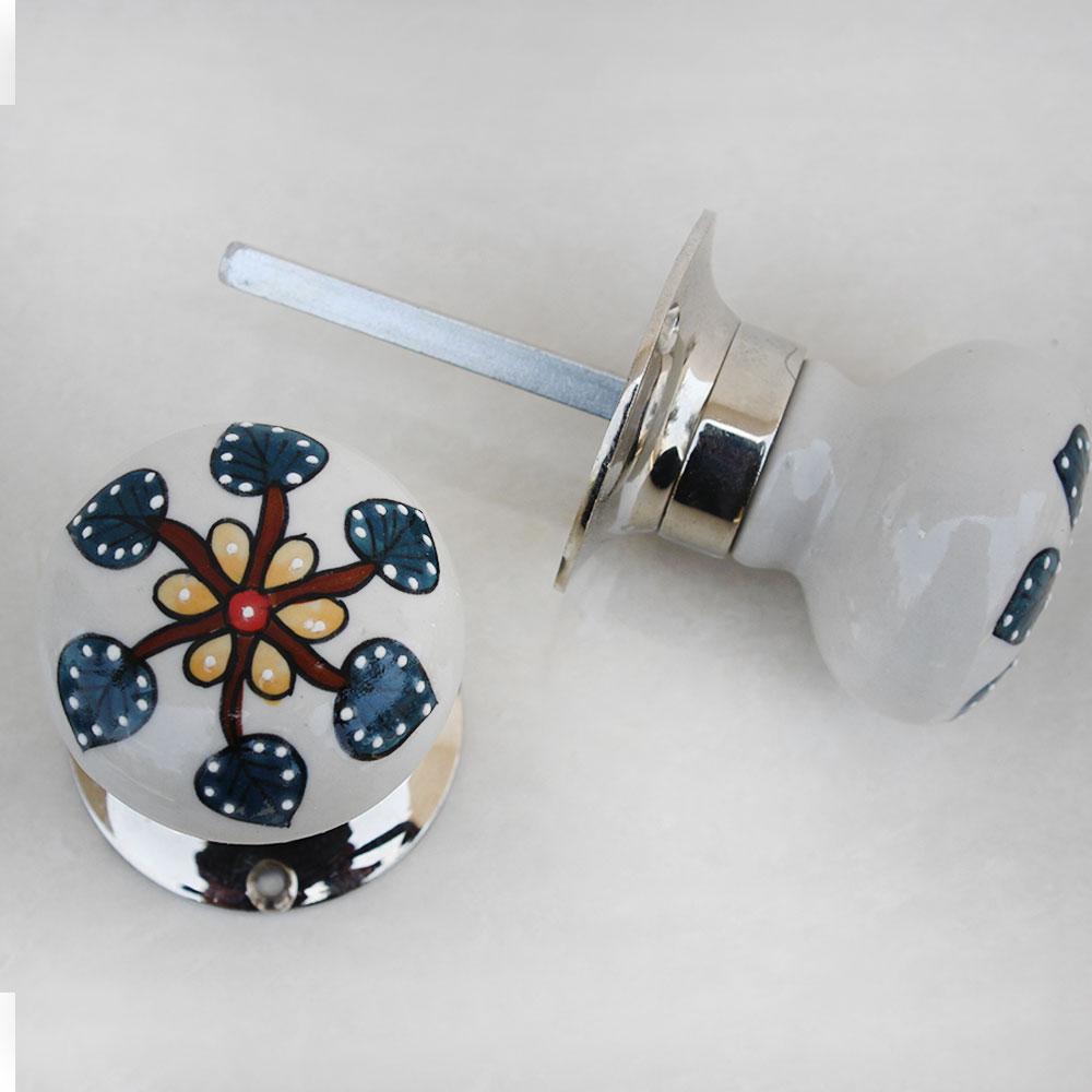 Saintpaulia Flower Mortice Door Handles 2.5