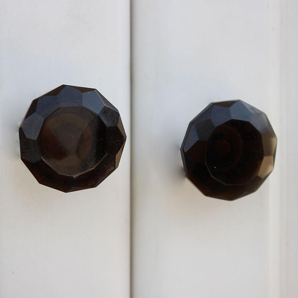 Purple Diamond Glass Cabinet Knob