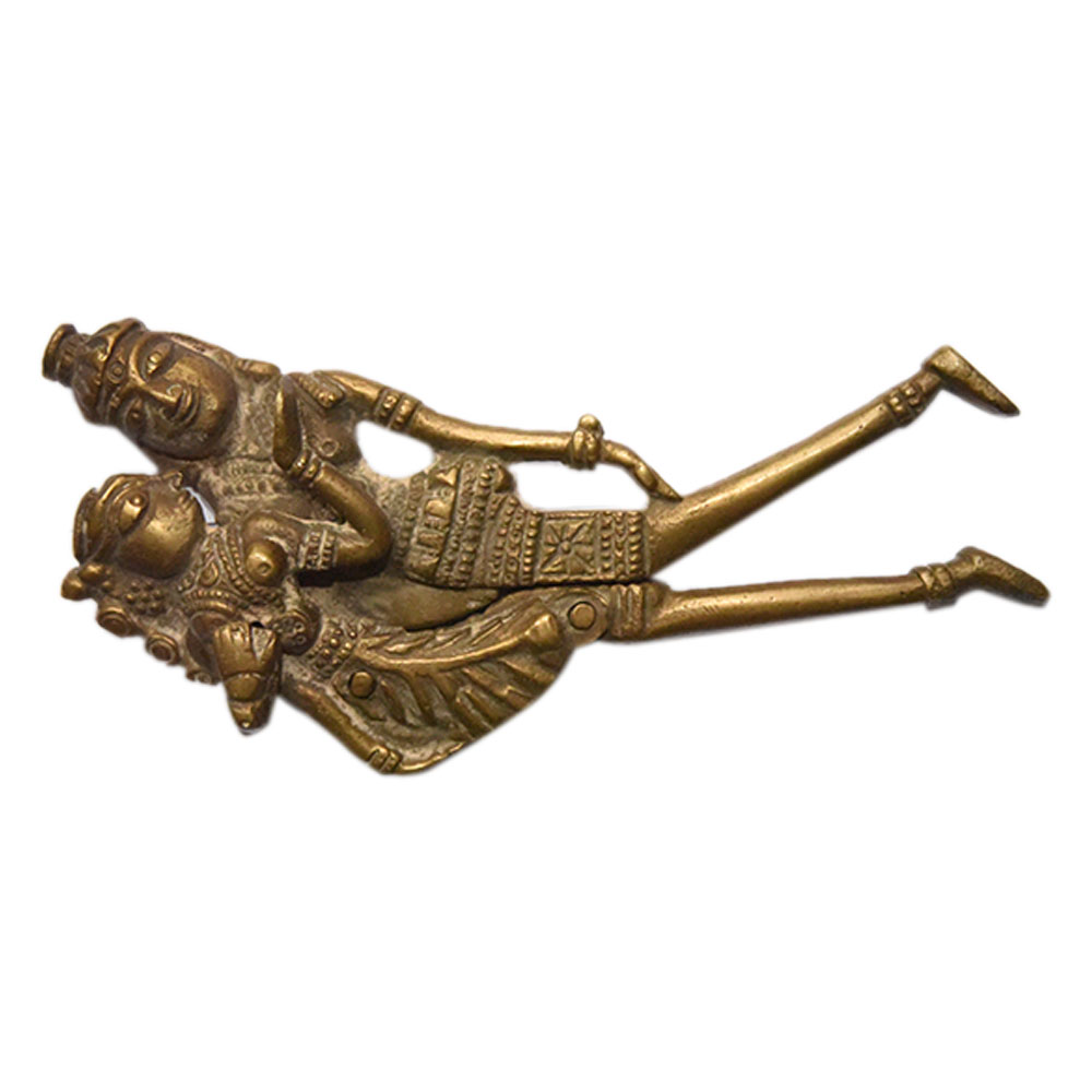 Vintage Brass Indian Deity with Caste Iron Blade.