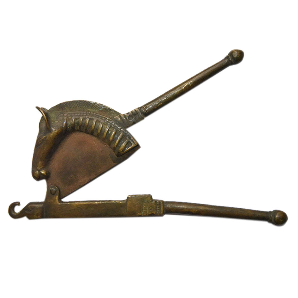 Brass Sarota or Metal Nut Cracker in the form of a Horse.