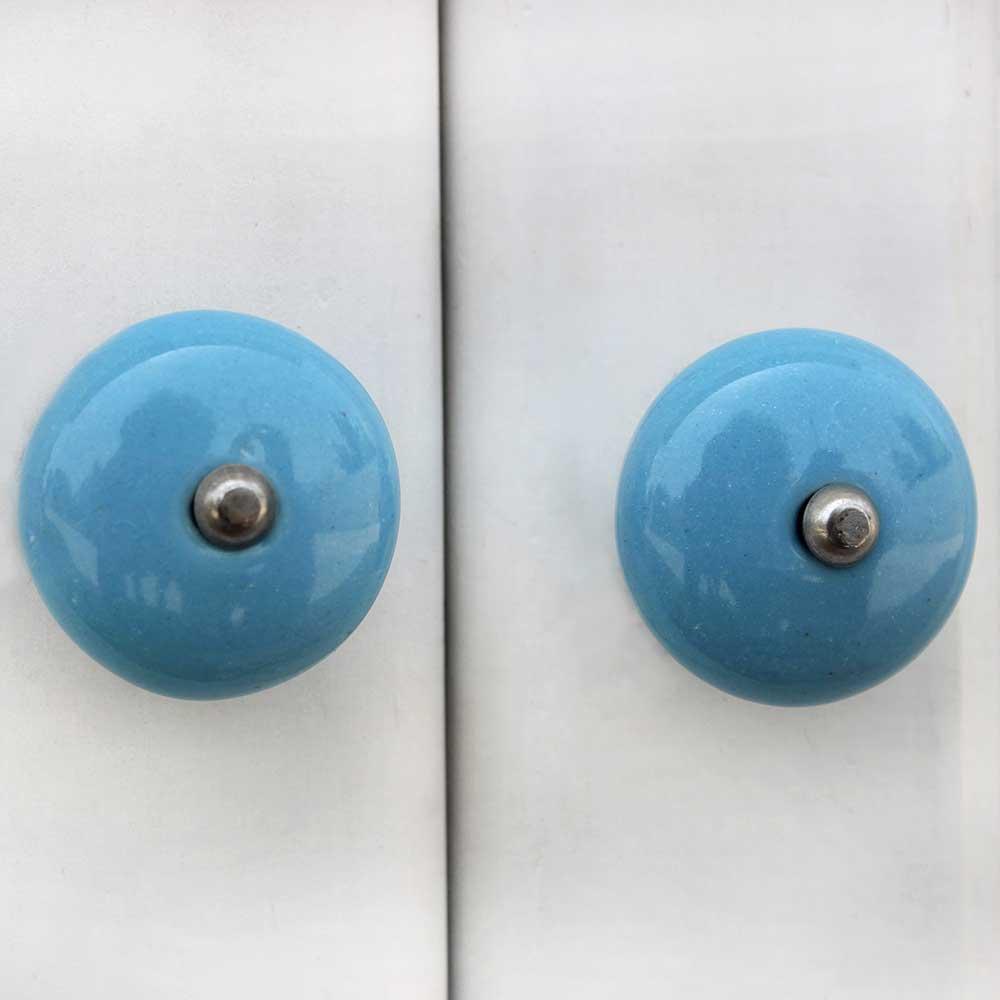 Turquoise Flat Knob