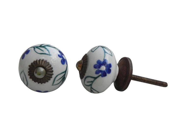 Blue Spring Flower Knob