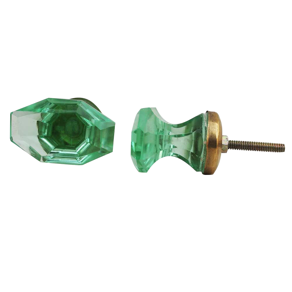 Green Tapered Baguette Drawer Knobs Online