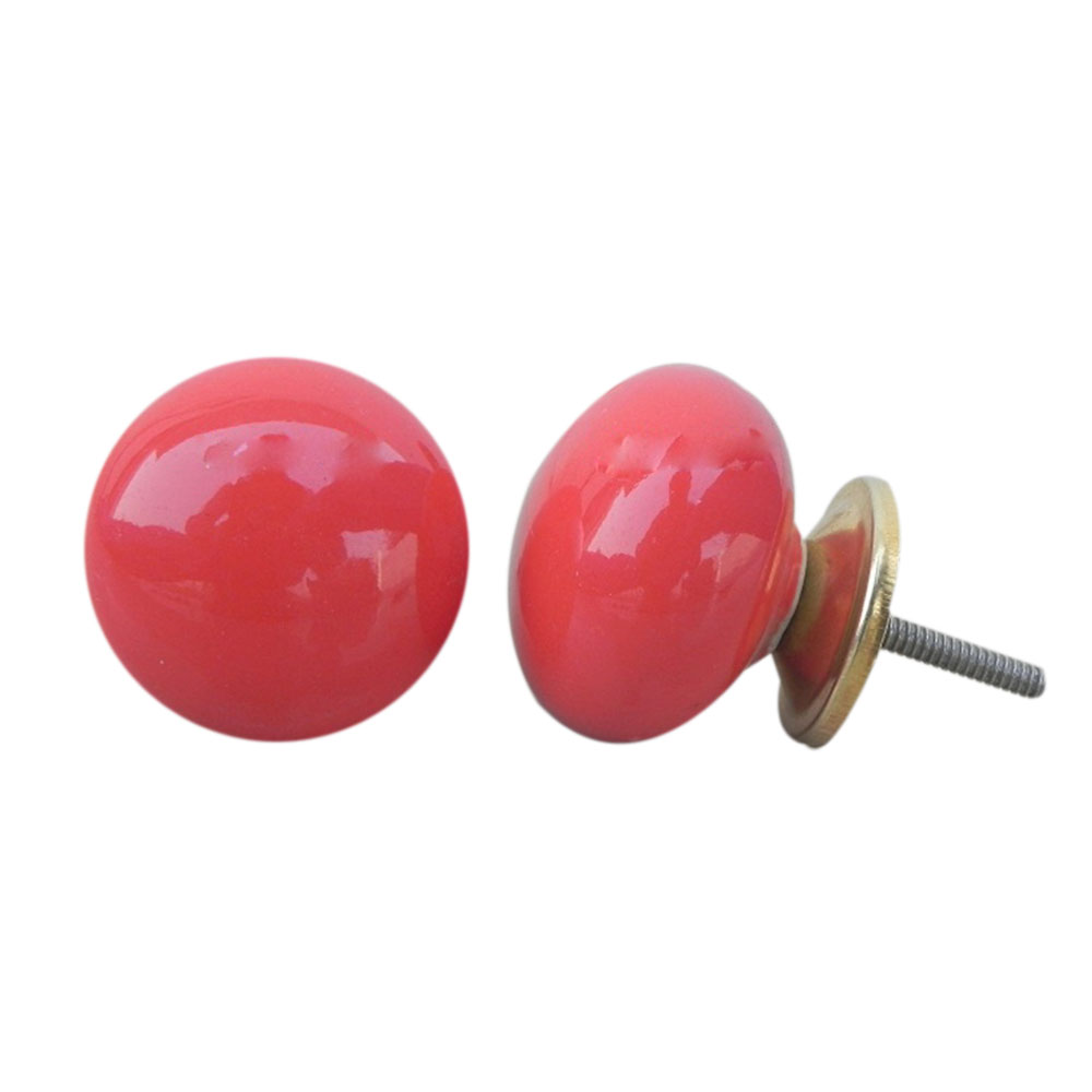 Solid Red Knob