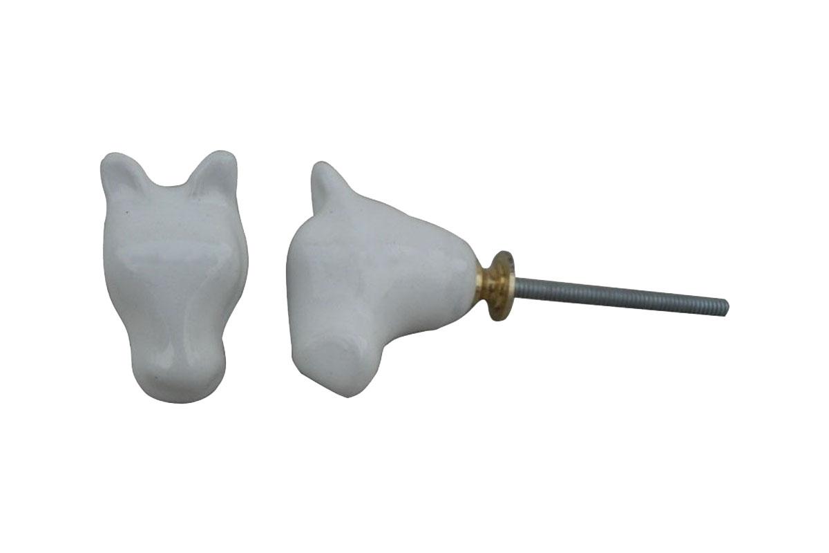 Horse Face Handmade Ceramic Knob