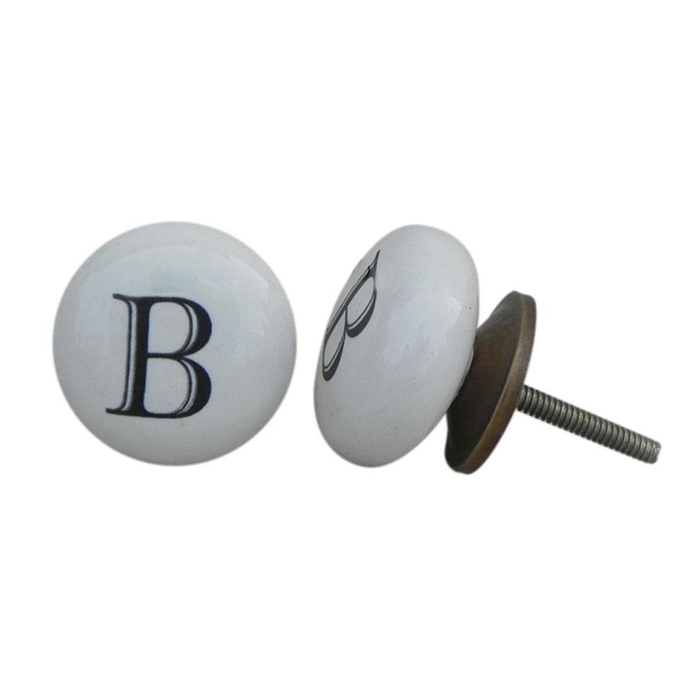 B Flat Alphabet Drawer Knob