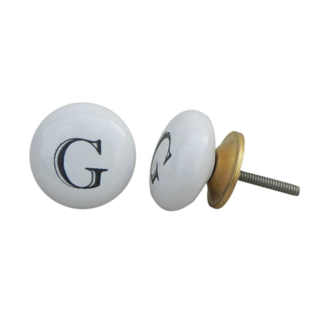 G Alphabet Ceramic Dresser Knob