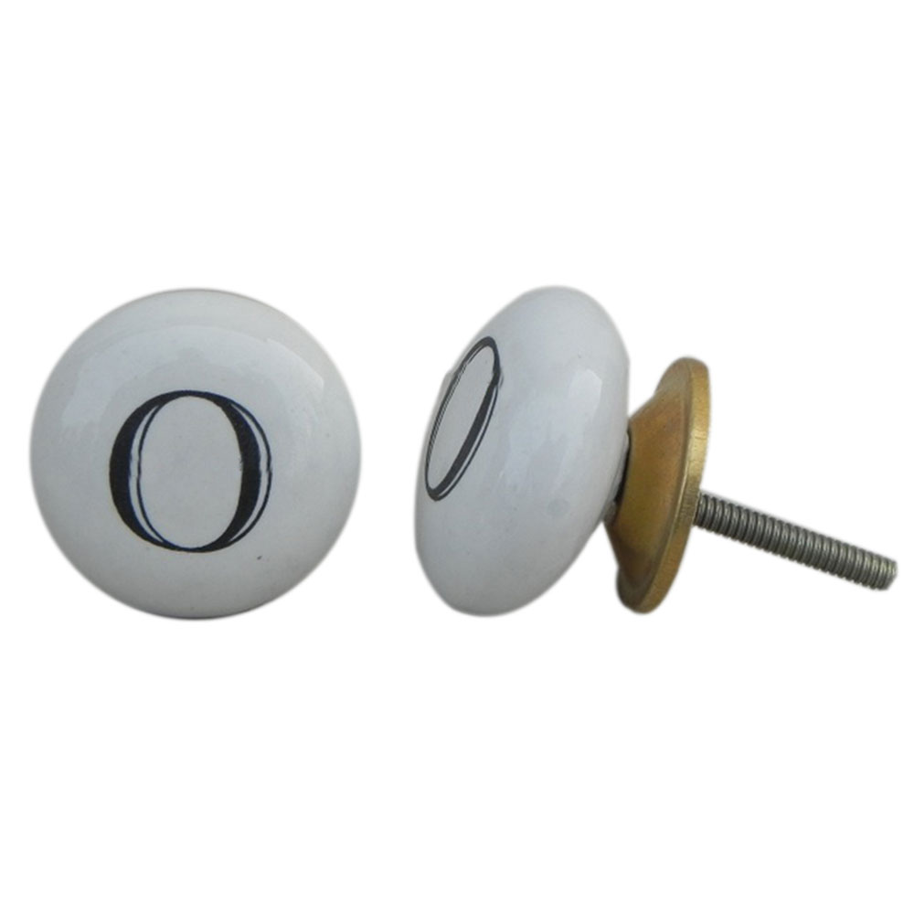 O Alphabet Wardrobe Ceramic Drawer Knob