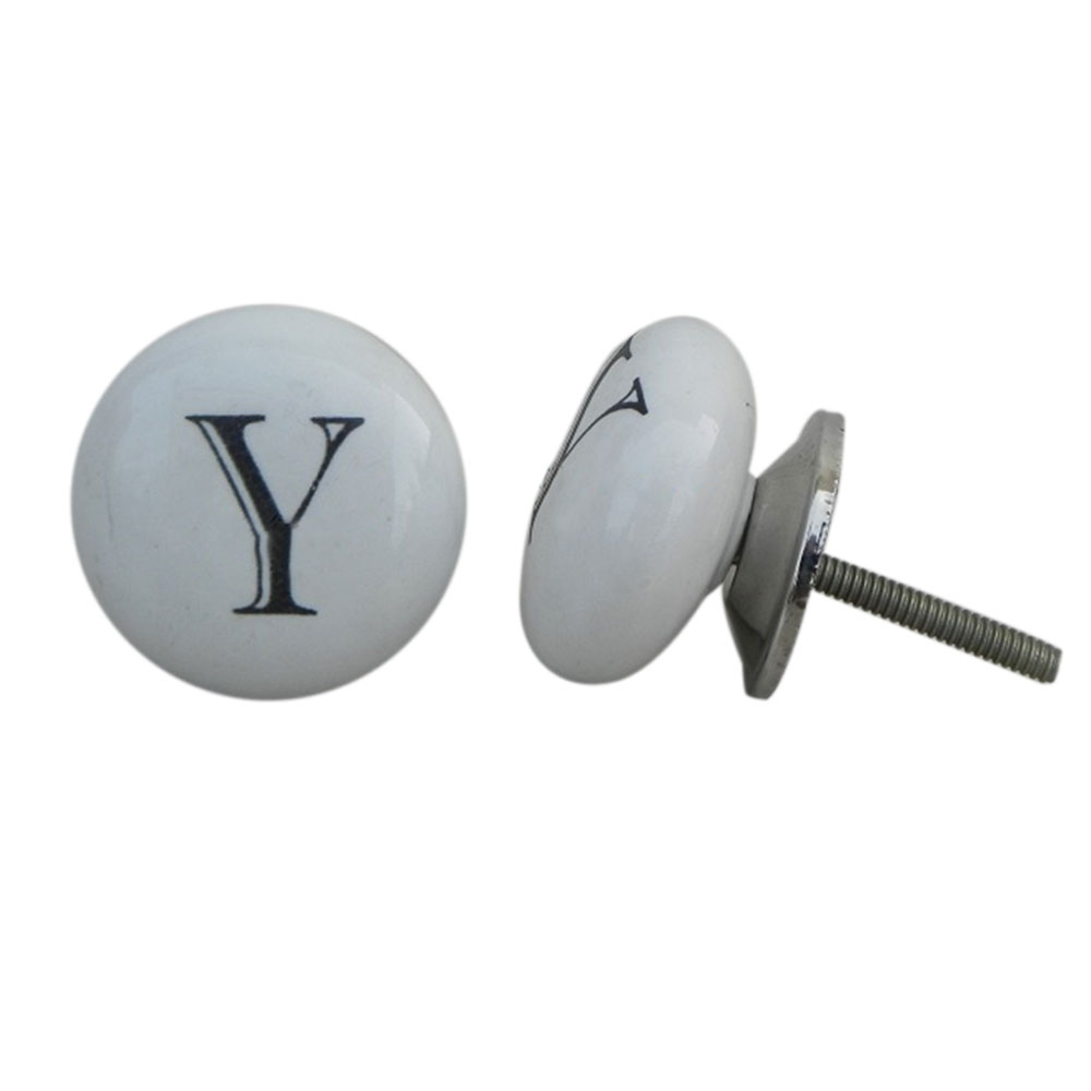 Y Alphabet Ceramic Dresser Drawer Knob