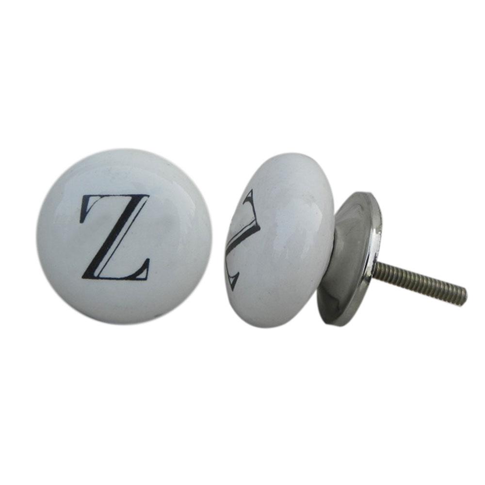 Z Alphabet Ceramic Dresser Knob