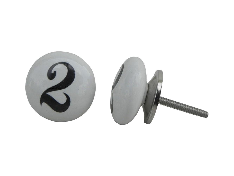 Number Ceramic Knob -2