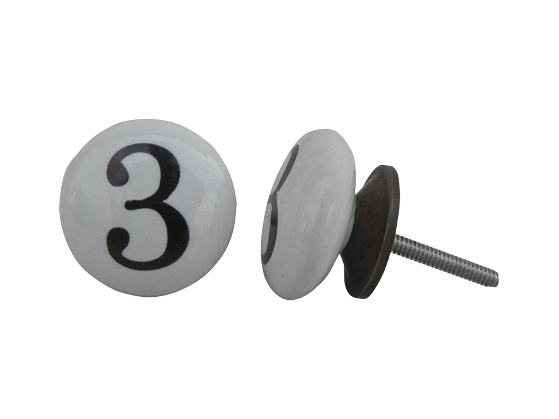 Number Ceramic Knob -3