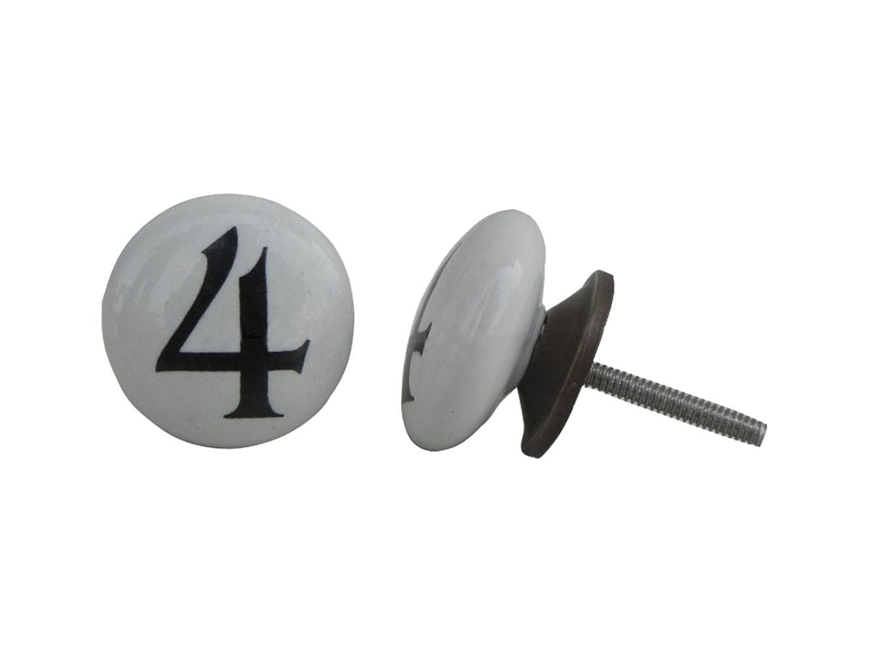 Number Ceramic Knob -4