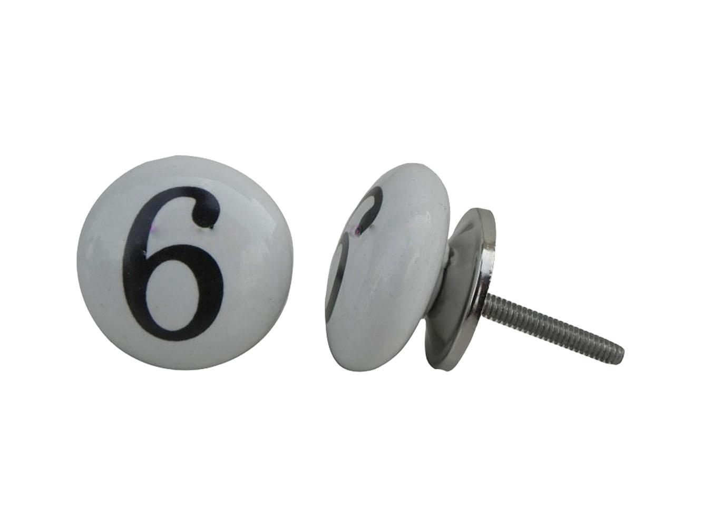 Number Ceramic Knob -6