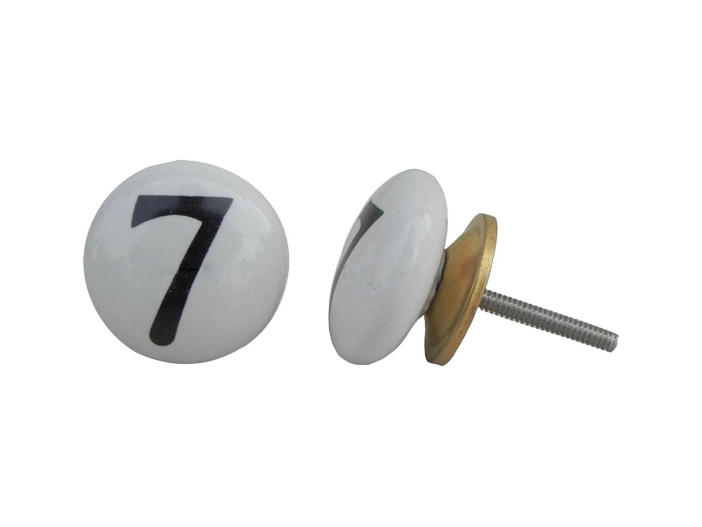 Number Ceramic Knob -7