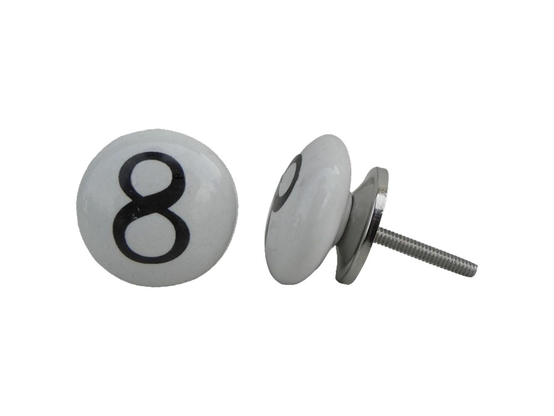 Number Ceramic Knob -8