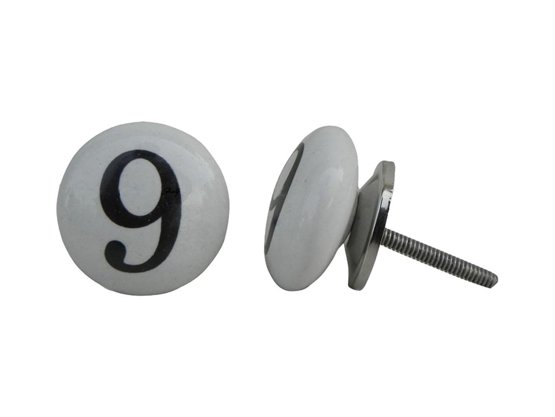 Number Ceramic Knob -9