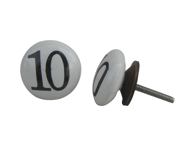 Number Ceramic Knob -10