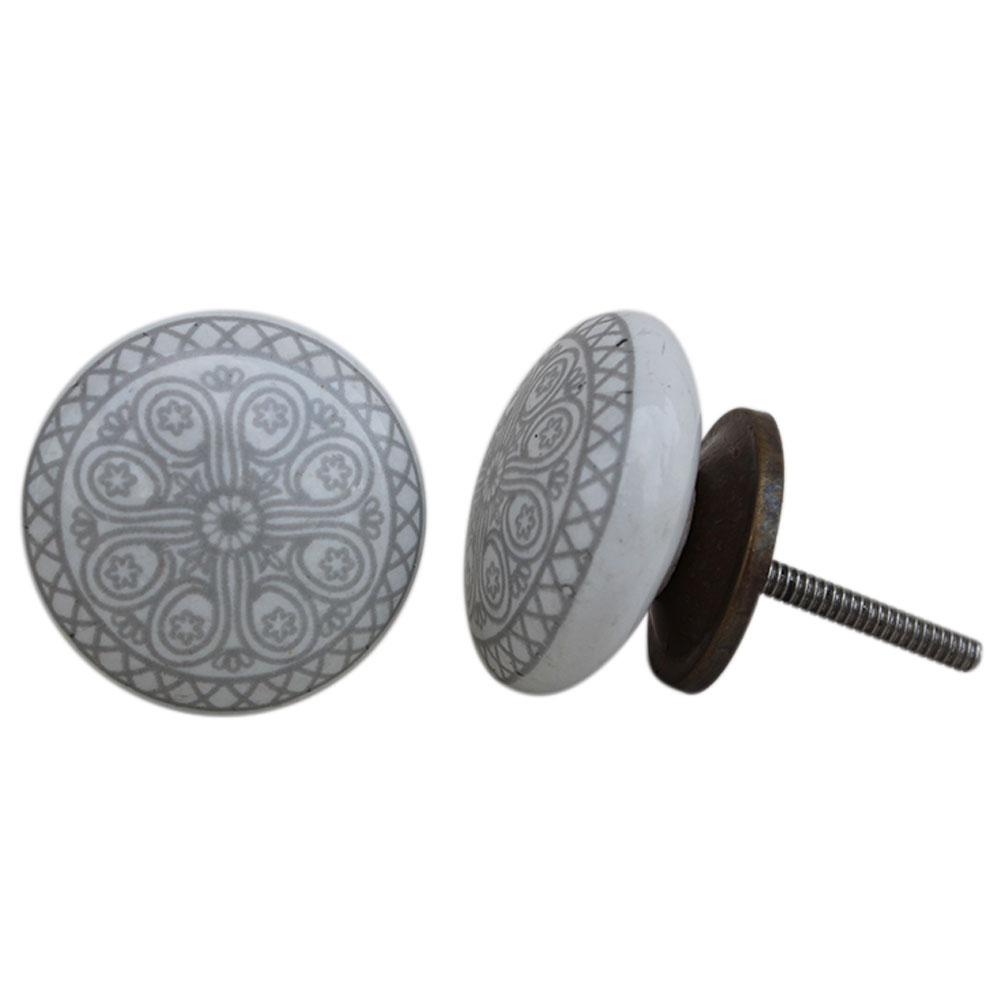 Grey Wheel Flat Knob