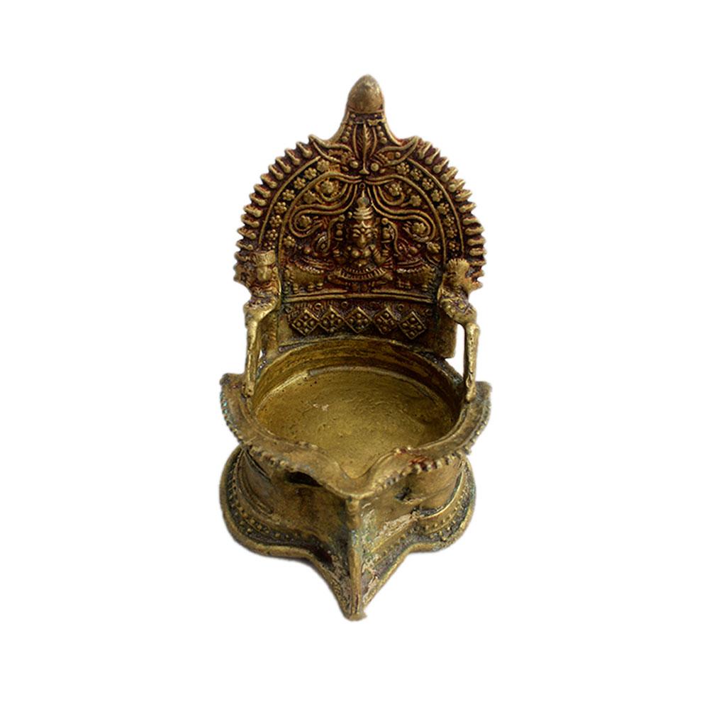 Laxmi Brass Oil Lamp (Ht-5.25 Inches)