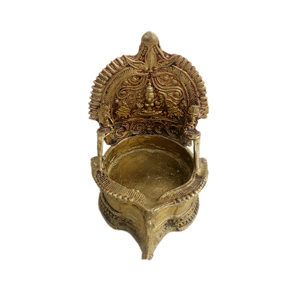 Laxmi Brass Oil Lamp (Ht-5.25 Inches)