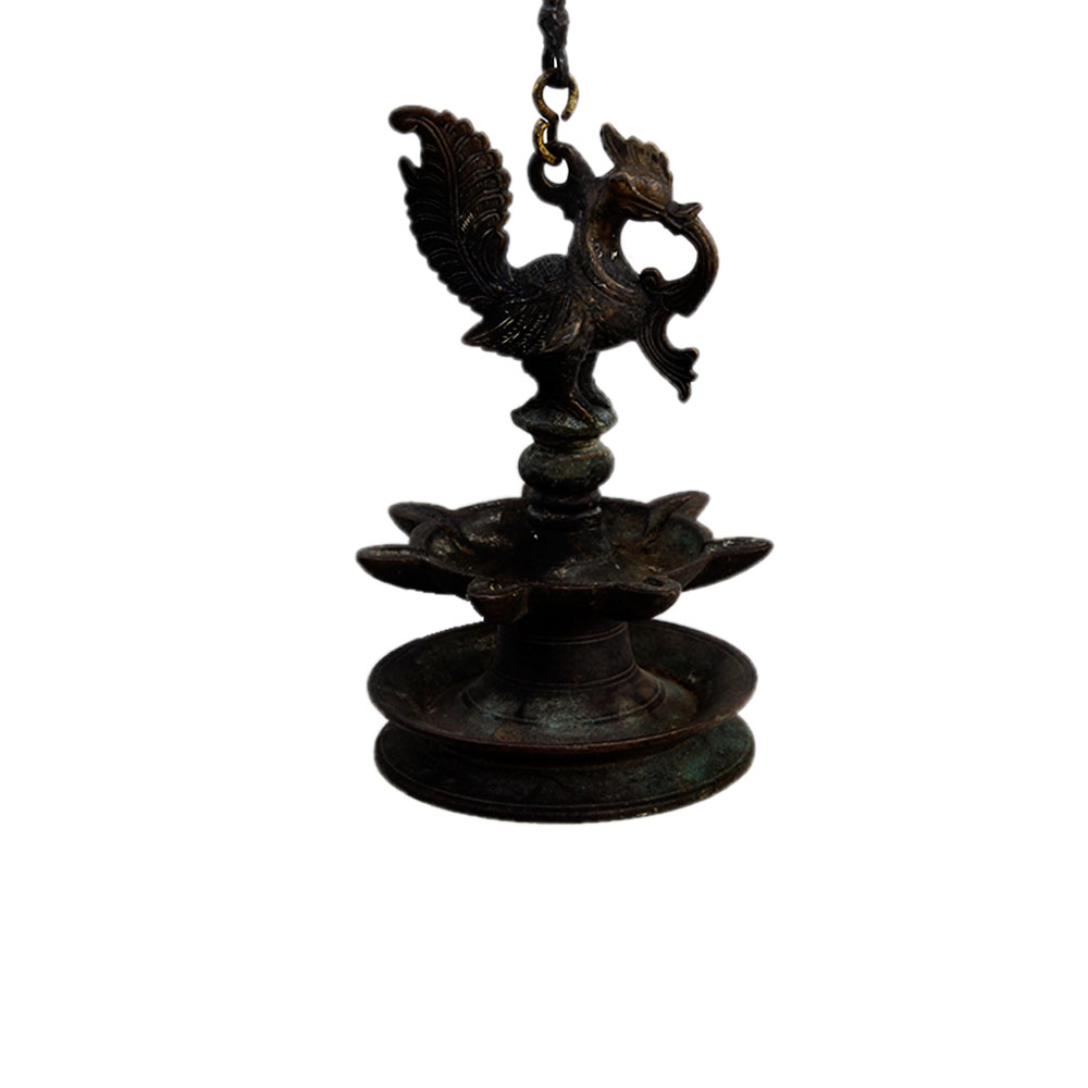 Bronze Oil Lamp-450 (Ht -31 Inches)