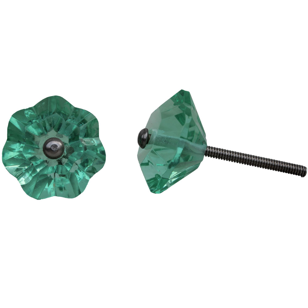 Floral Mint Color  Knob