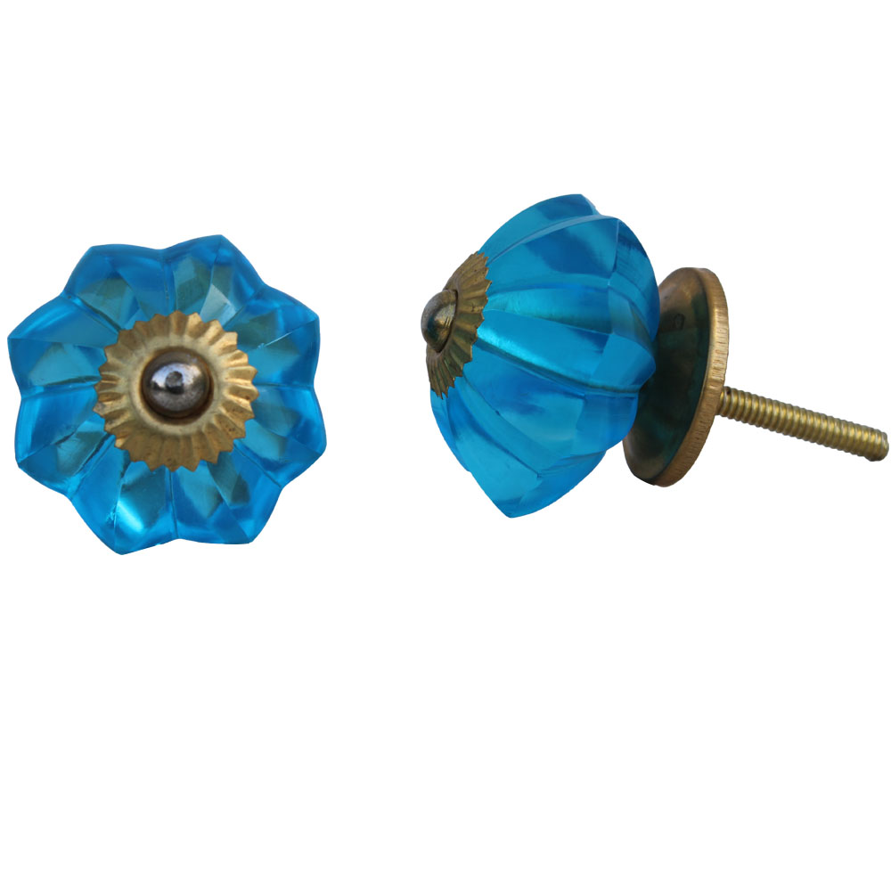 Blue Flower Knob, Big