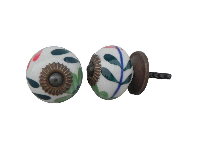 Green Flower Knob