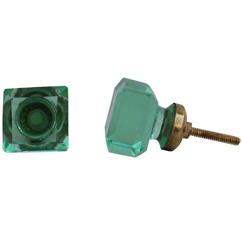 Light Green Square Drawer Knobs