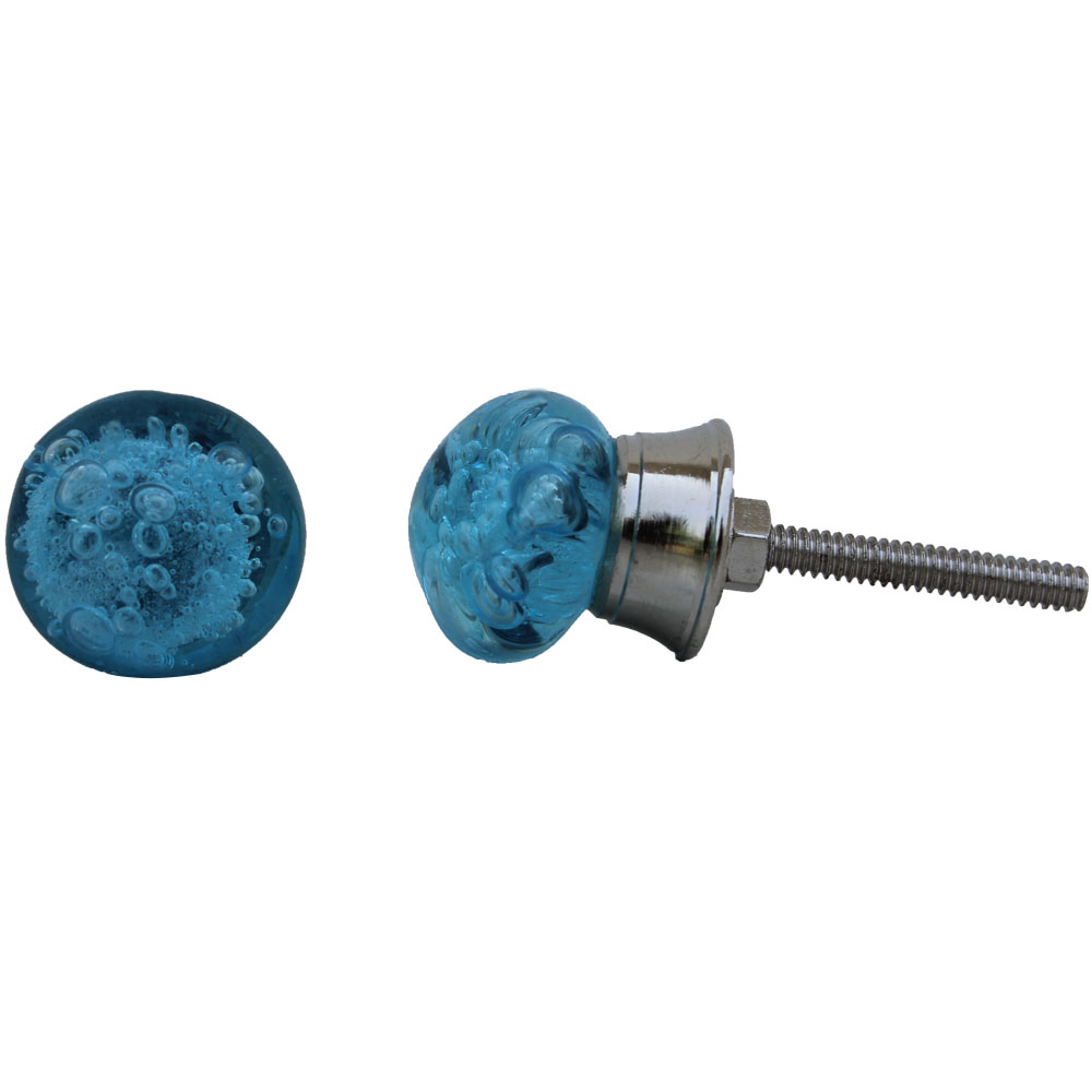 Turquoise Bubble Tiny Cabinet Knobs