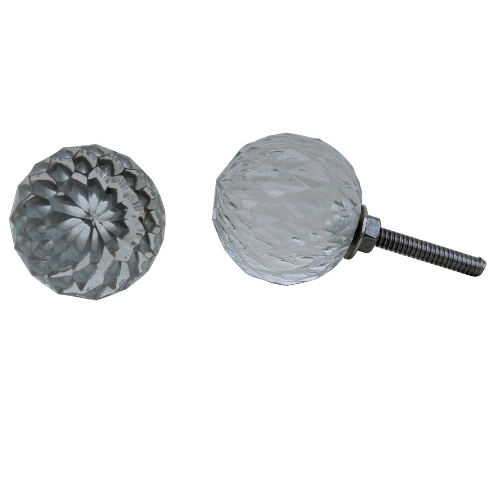 Clear Diamond Cut Cabinet Knobs Online