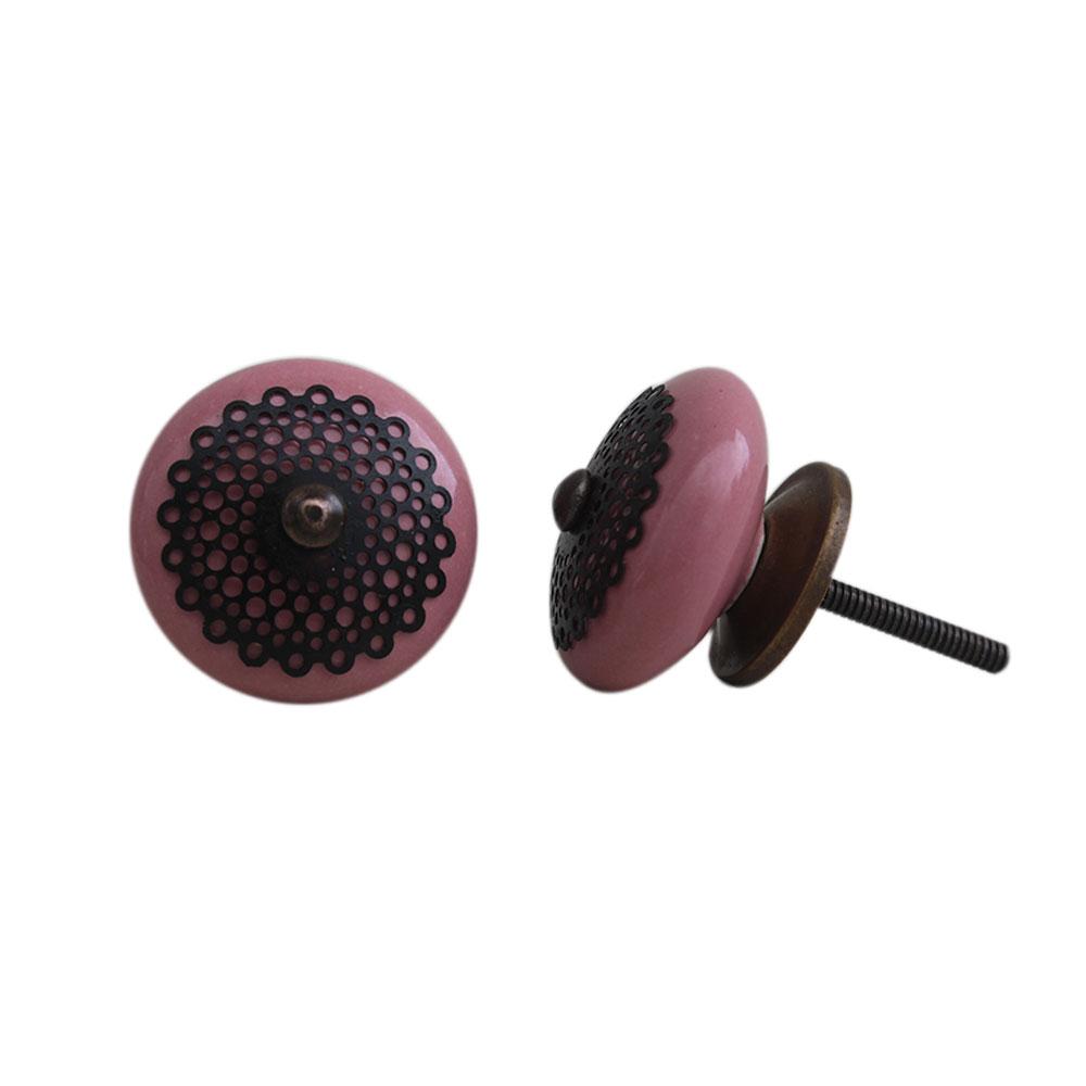 Pink Strewn Flat Knob-05