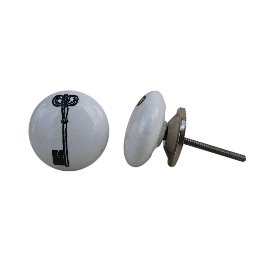 Ceramic Key Painted Knob