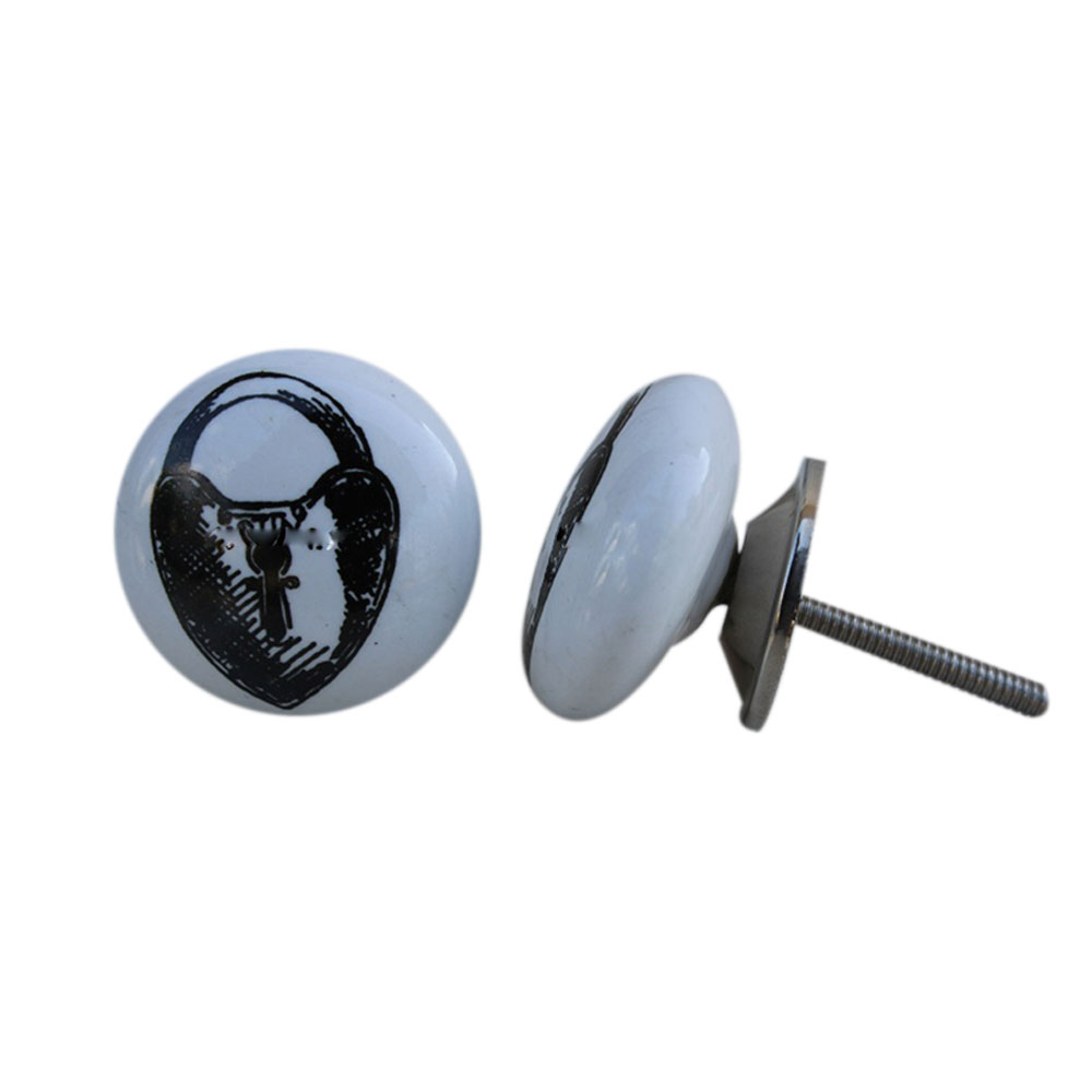 Ceramic Painted Lock Knob