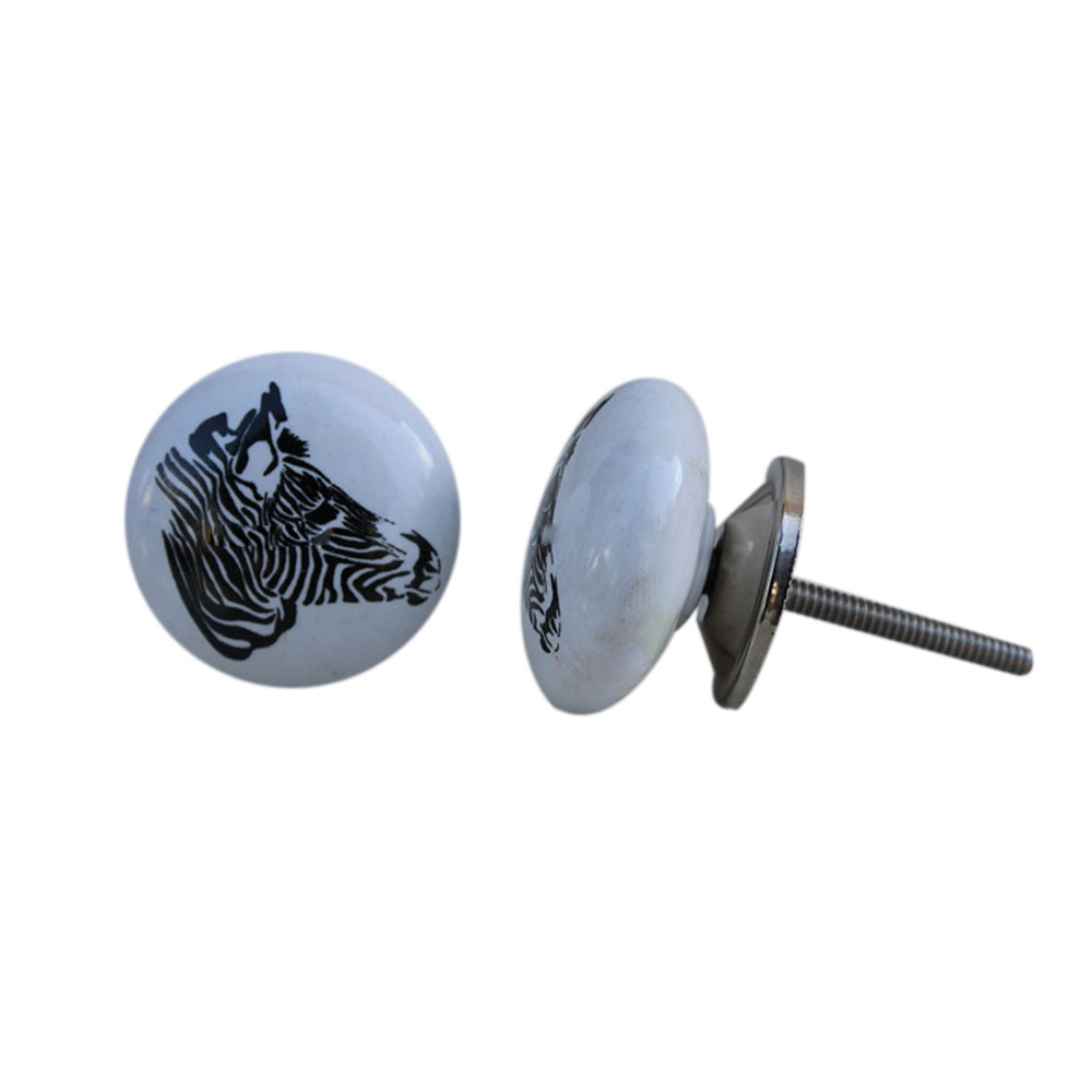 Zebra Face Kids Knob
