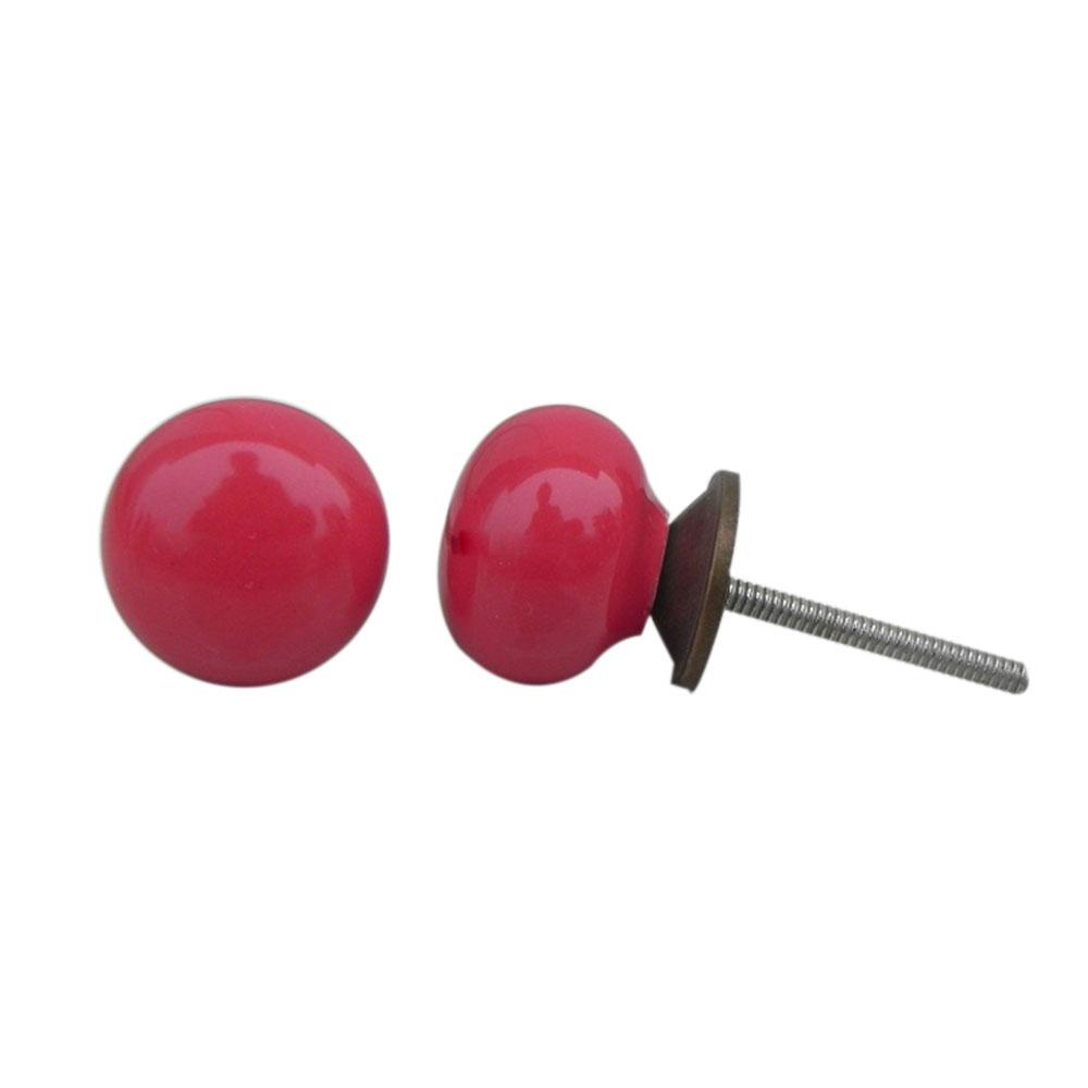 Red Small Flat Knob (1)