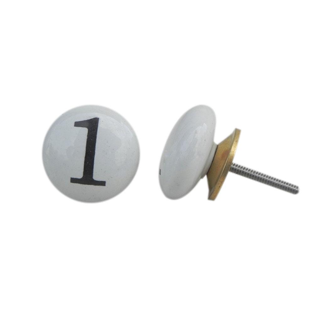 Number Ceramic Knob -1