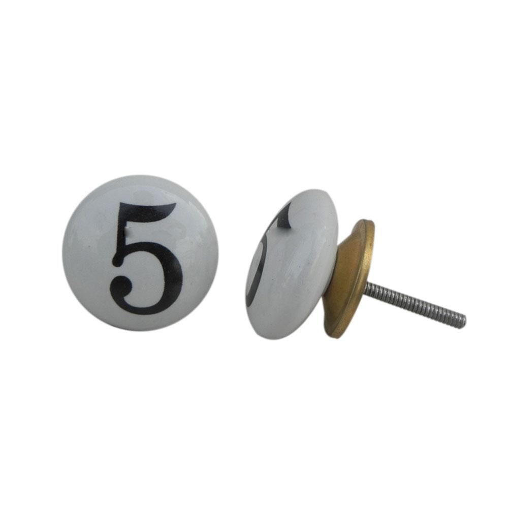 Number Ceramic Knob -5