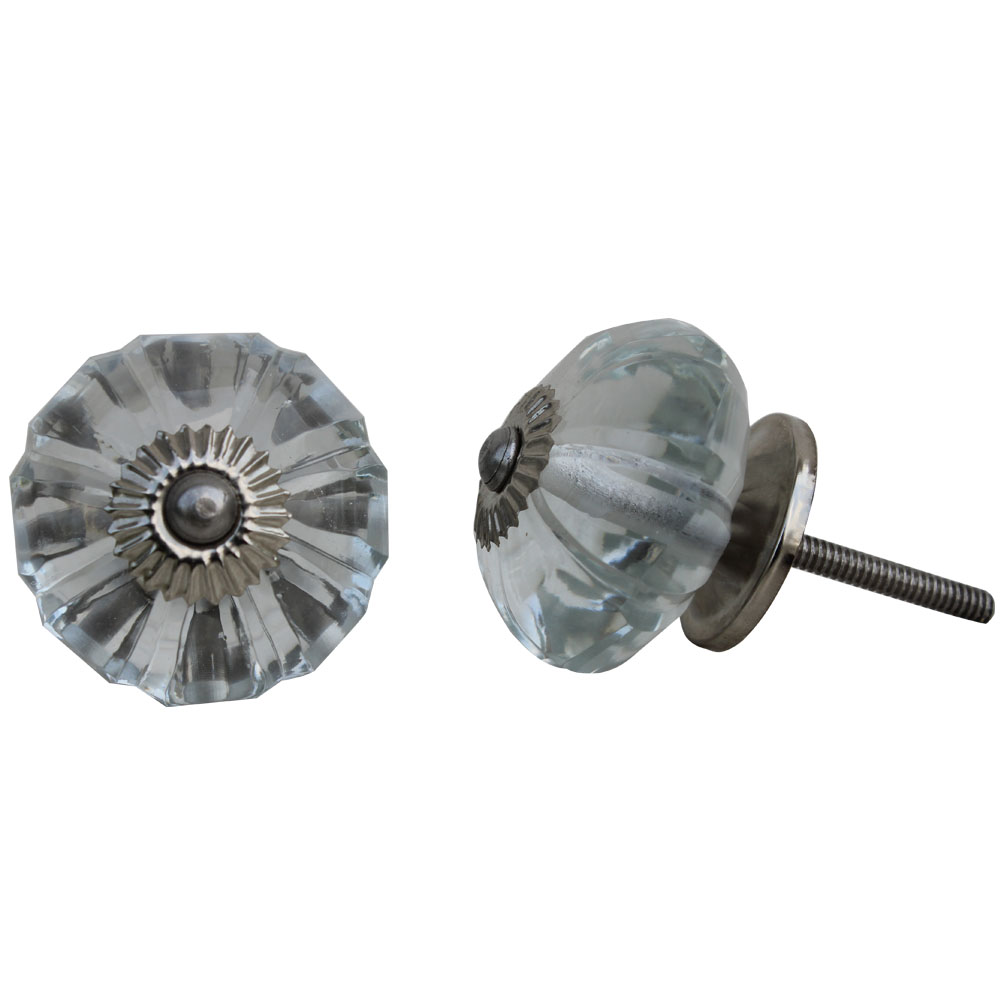 Clear Melon Glass Knob (1)