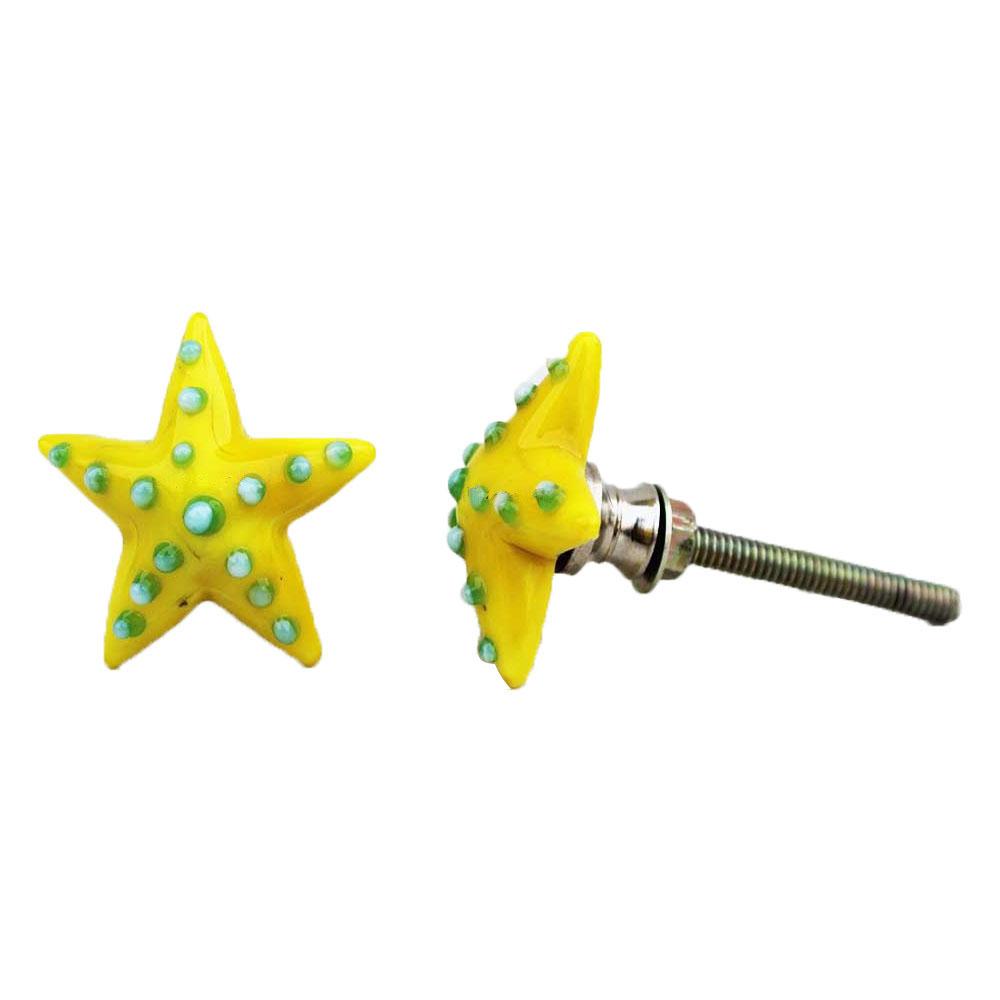 Yellow Star Dot Knob
