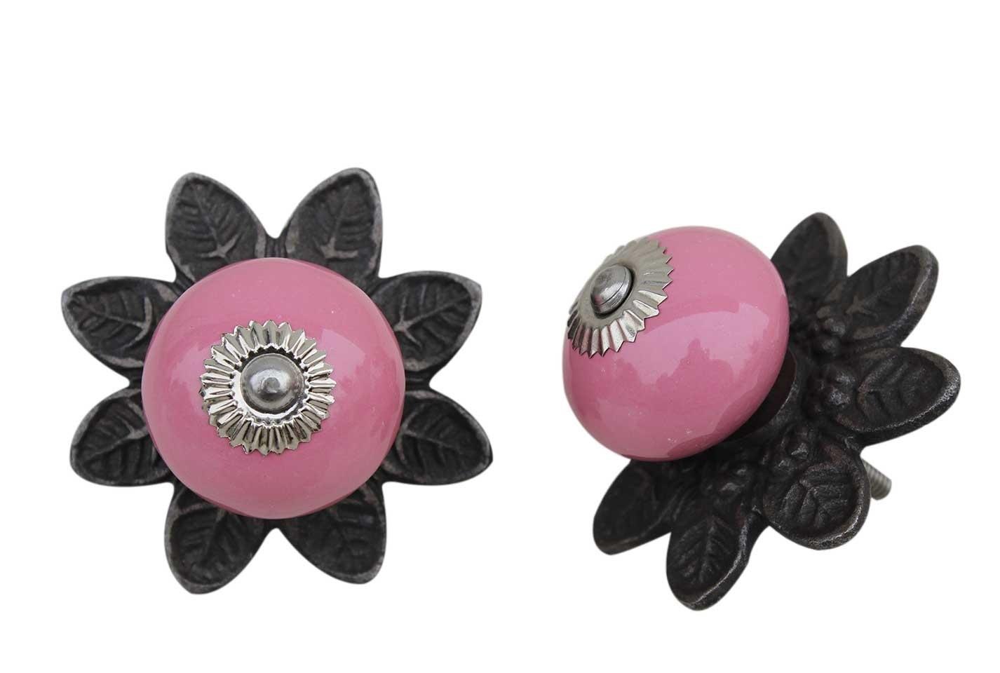 Pink Ceramic Portia Knob